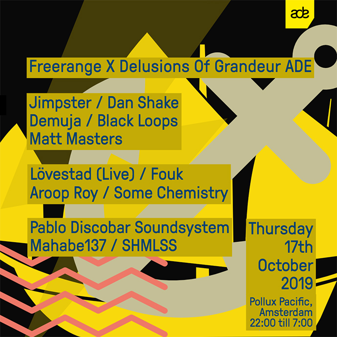 Freerange X Delusions ADE Showcase 17th Oct, Pollux Pacific